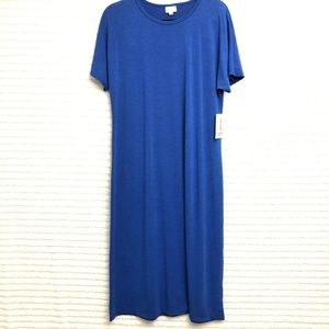 LuLaRoe Maria Dress Solid Royal Blue